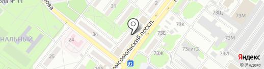 Московский на карте Старого Оскола