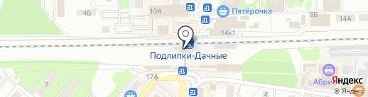 Подлипки-Дачные на карте Королёва