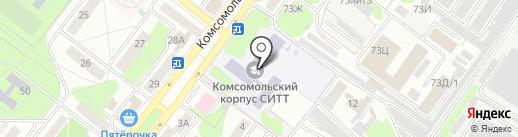 Старооскольский техникум строительства на карте Старого Оскола