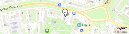 Общежитие №6 на карте Старого Оскола