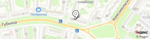 Адвокатский кабинет Прониной А.С. на карте Старого Оскола