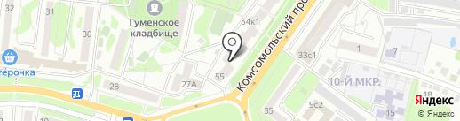 Банкомат, Пробизнесбанк на карте Старого Оскола