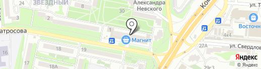 Банкомат, УКБ Белгородсоцбанк на карте Старого Оскола