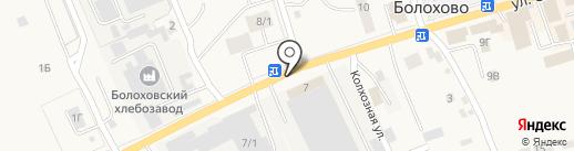 ТЕХРУБЕЖ на карте Болохово