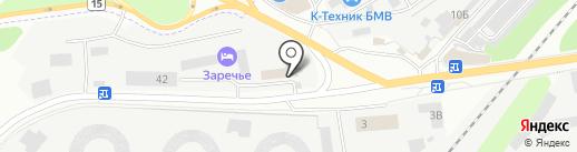 Заречье на карте Дзержинского