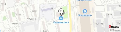 Осьминожка на карте Москвы