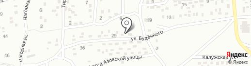 Продовольственный магазин на ул. Будённого на карте Макеевки