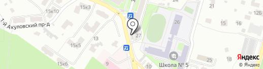 Киоск по продаже мороженого на карте Пушкино
