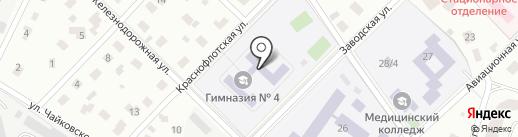 Гимназия №4 на карте Пушкино