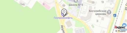 АЗС Газпромнефть на карте Пушкино