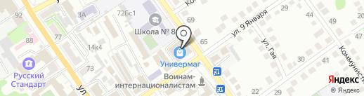Оскол-электрик на карте Старого Оскола