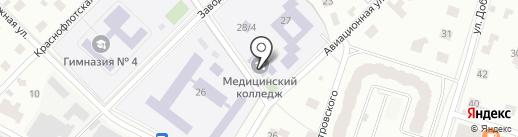 Пушкинский медицинский колледж на карте Пушкино