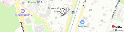 Храм Святителя Николая на карте Пушкино