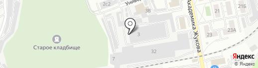 Архангельский лес на карте Дзержинского
