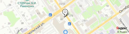 Банкомат, Банк Уралсиб, ПАО на карте Старого Оскола