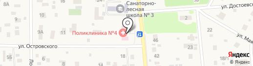 Поликлиника микрорайона Клязьма на карте Пушкино