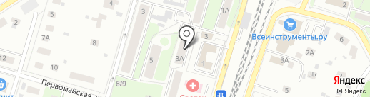 Мерабелла на карте Пушкино