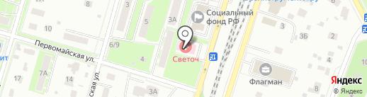 Светоч на карте Пушкино