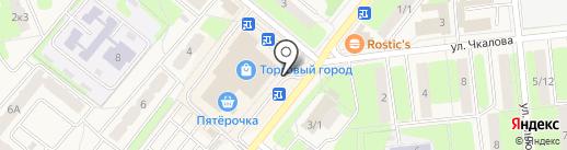 Киоск фастфудной продукции на карте Домодедово