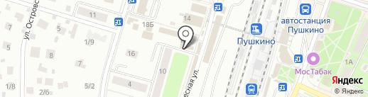 Забава на карте Пушкино