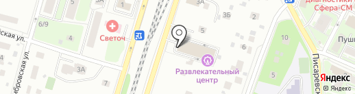 Звездопад на карте Пушкино