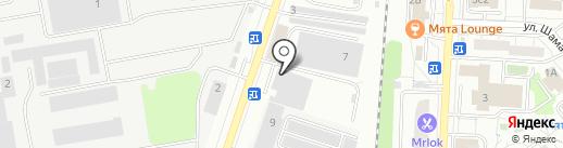 Шиномонтажная мастерская на карте Дзержинского