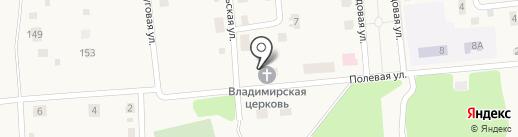Храм в честь Владимирской иконы Божией Матери поселка Шатск на карте Шатска
