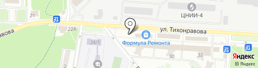 Магазин косметики и нижнего белья на карте Юбилейного