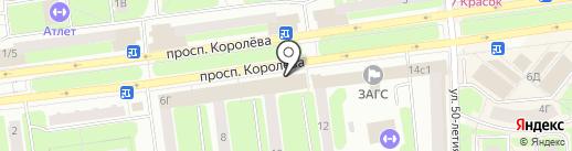 Оджахури на карте Королёва