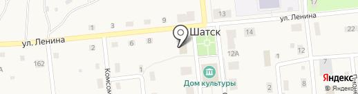 Почтовое отделение на карте Шатска