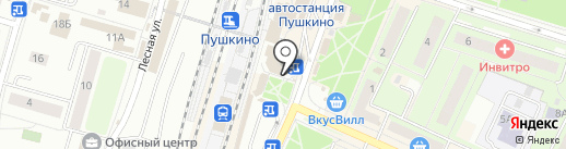 Тандыр Хаус на карте Пушкино