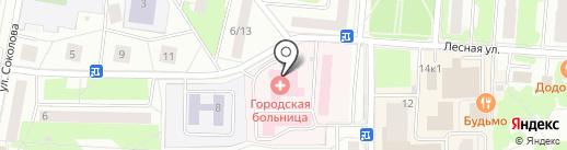 Юбилейная городская больница на карте Королёва