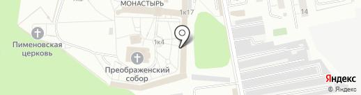 Николо-Угрешский монастырь на карте Дзержинского