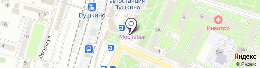 Магазин табачной продукции на карте Пушкино