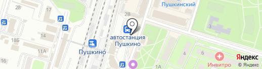 Банкомат, Банк Возрождение, ПАО на карте Пушкино