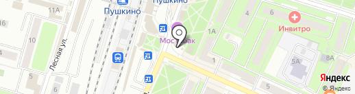 Племзавод Зеленоградское, ЗАО на карте Пушкино