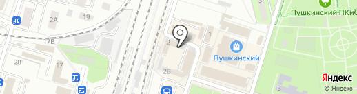 Нарядный домик на карте Пушкино