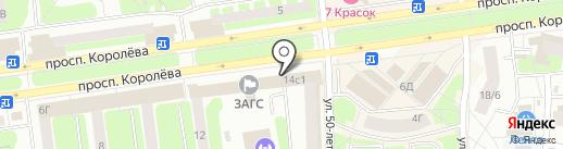 Комус на карте Королёва