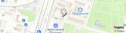 Из Европы на карте Пушкино