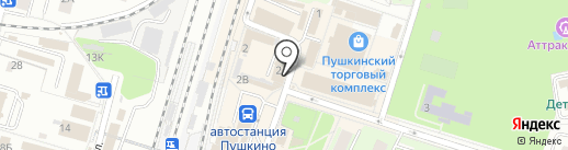 Пеликан на карте Пушкино