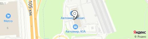 Автомир на карте Балашихи