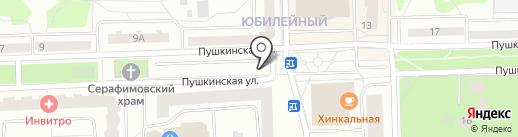 Автостоянка на Пушкинской на карте Юбилейного