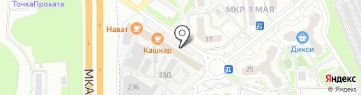 Тандырная на карте Балашихи