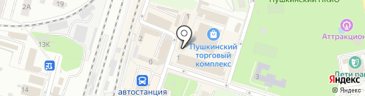На Тургенева на карте Пушкино