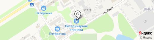 Домодедовская районная станция по борьбе с болезнями животных на карте Растуново