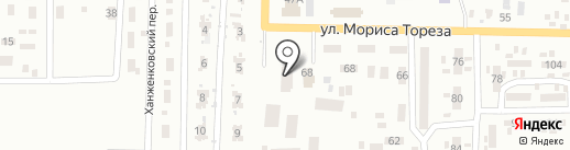 Искра на карте Макеевки