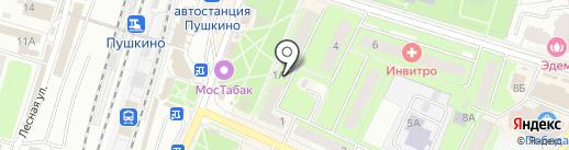 Дом Дача на карте Пушкино