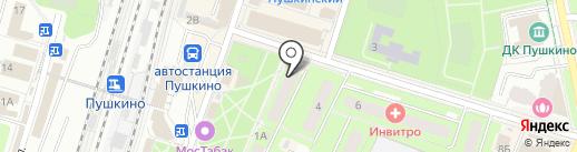 Поток на карте Пушкино