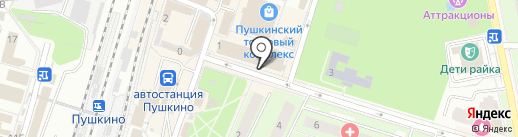 Магазин мужской одежды на карте Пушкино