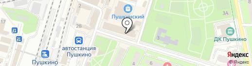 Магазин нижнего белья на карте Пушкино